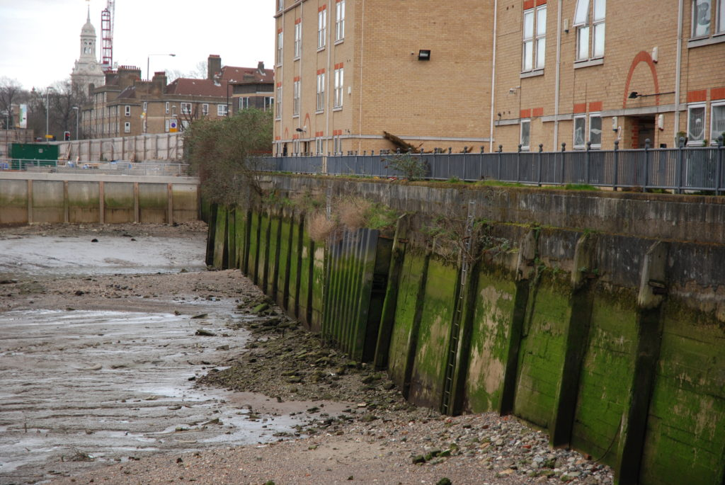 Typical urbanised river edge